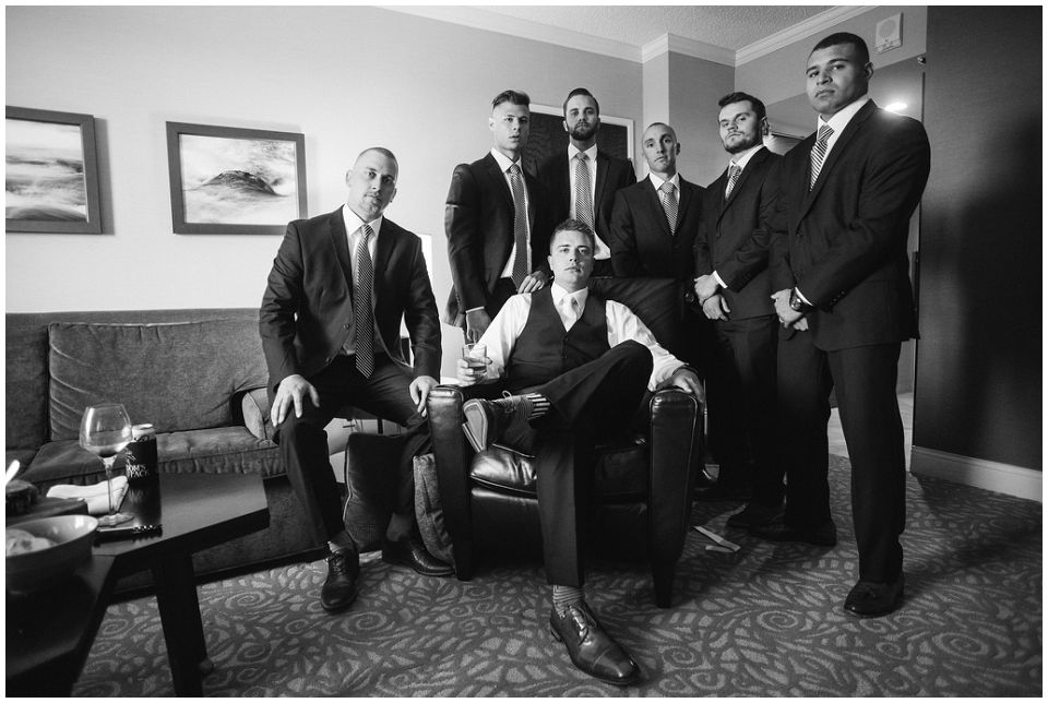Groomsmen before wedding