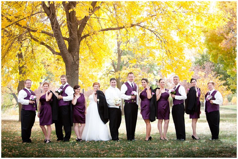 Omaha wedding party