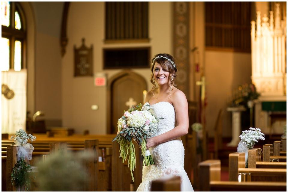 Bridal Portrait at First Lutheran Church
