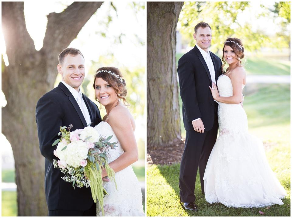 Bride and Groom portrait Omaha Wedding photographer