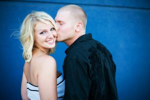 Downtown Omaha Nebraska Engagement photograph
