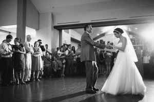 Father Daughter first dance taken by Omaha Wedding photographers