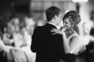 Bride and Groom's first dance at The Hills Reception