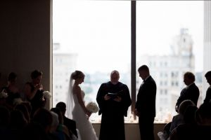 Wedding ceremony at downtown Omaha Doubletree