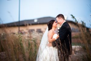 Bride and Groom at Tiburon Golf Omaha NE