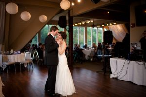 A View at Fontenelle bride and groom first dance