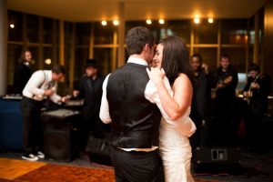 Bride and Grooms first dance at Holland Center Omaha
