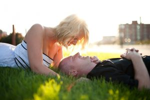 Downtown Omaha engagement session