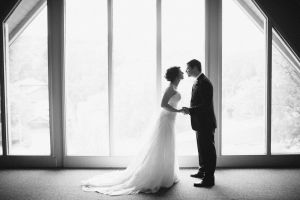 Bride and Groom at A View Fontenelle